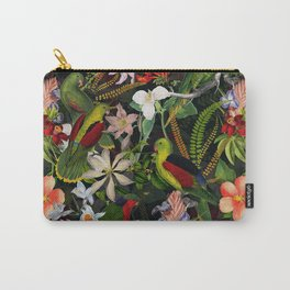 Vintage & Shabby Chic - Black Tropical Parrot Night Garden Carry-All Pouch