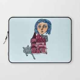 Coraline and Kitty Laptop Sleeve