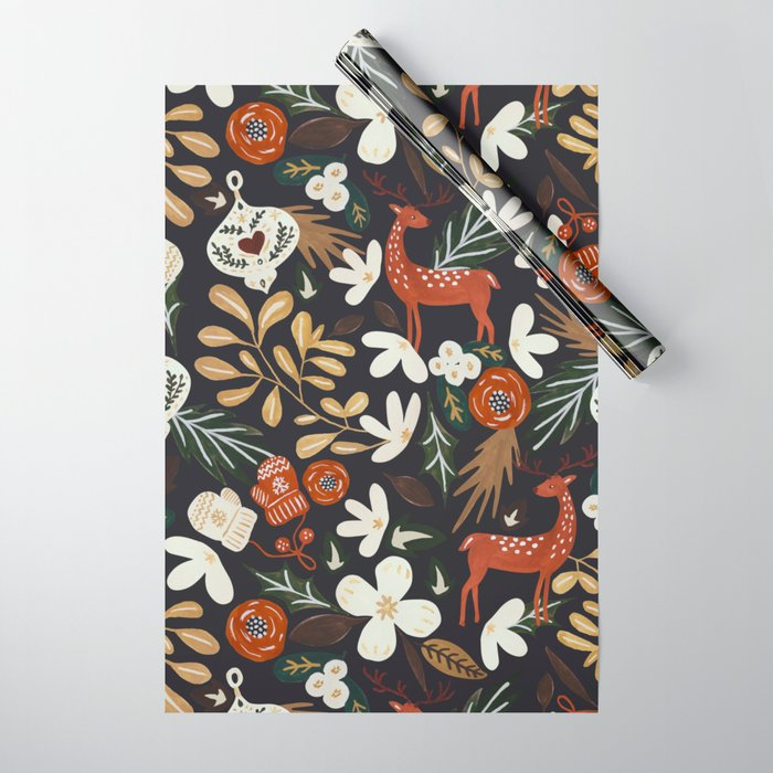 Christmas holiday night III Wrapping Paper