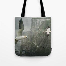 Gannets at Bempton Cliffs Tote Bag