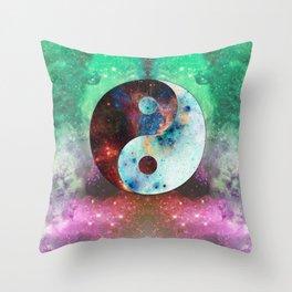 Ying-Yang Galaxy Throw Pillow