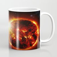 planet of the apes Mugs featuring Galaxy : Red Dwarf Star by 2sweet4words Designs