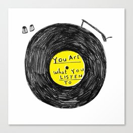 you are what you listen to, YELLOW Canvas Print