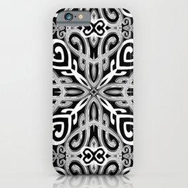 Black+White Ornate Hearts iPhone Case