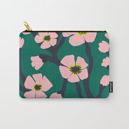 Pink Blooms Everywhere No 01 (square) Carry-All Pouch