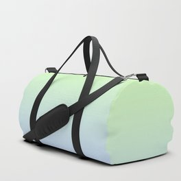 Delicate shades of blue and green. Gradient.  Ombre. Duffle Bag