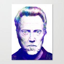 Mr. Walken, Watercolor Canvas Print