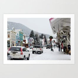 Downtown Crested Butte, Colorado During Winter Time Art Print