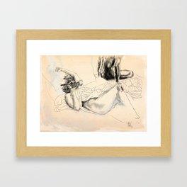 """The End Is Nigh..."" Woman|HOOD #3 Framed Art Print"