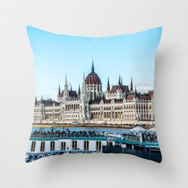Cityscape of Budapest Throw Pillow