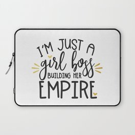 I'm Just A Girl Boss Laptop Sleeve