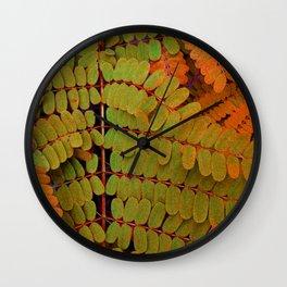 Tiny Leaves Abstract Wall Clock