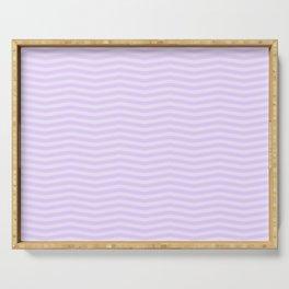 Chalky Pale Lilac Pastel Chevron Stripes Serving Tray