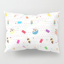 Ice Cream Collage in White Pillow Sham