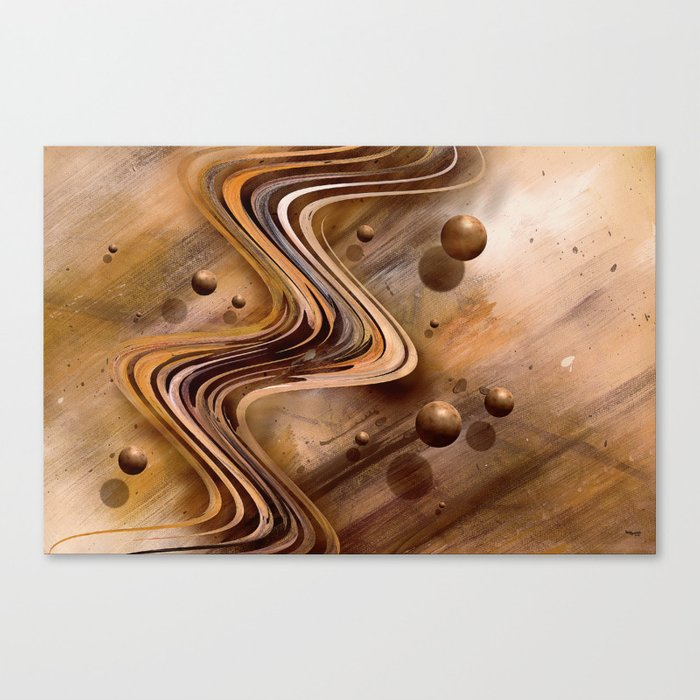 Chocolate Waves Canvas Print