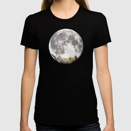 Sleeping cat with the Moon T-shirt