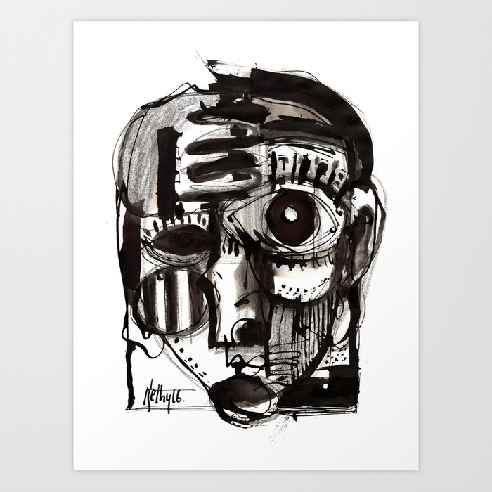 Reflection - b&w Kunstdrucke