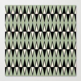 Mid Century Modern Diamond Pattern Sage Green 234 Canvas Print