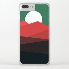 Abstract and geometric landscape 11 Clear iPhone Case