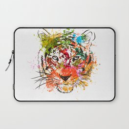 creative color ink splash tiger avatar Laptop Sleeve