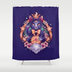 Maneki Luna Shower Curtain