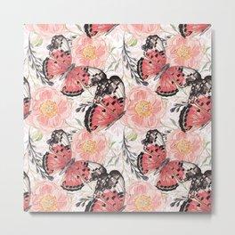 Flowers & butterflies #3 Metal Print