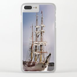 Europa Historical Sailboat Clear iPhone Case