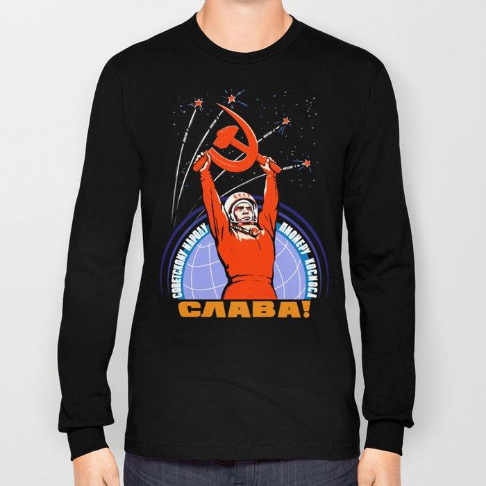 Soviet Propaganda. Yuri Gagarin Long Sleeve T-shirt