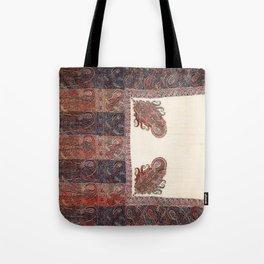 Kashmir North Indian Shawl Print Tote Bag