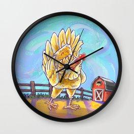 Animal Parade Chicken Wall Clock
