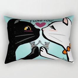 Love you cats Rectangular Pillow