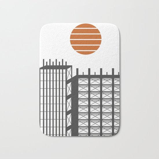 City in construction Bath Mat