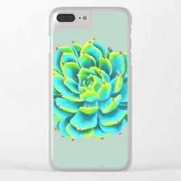 Desert flower 3 Clear iPhone Case