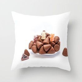 the cuberdons chocolate Throw Pillow
