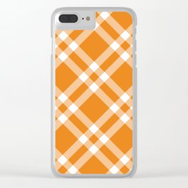 Simply Check Stripes Clear iPhone Case