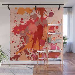 Painting Color splashes Wall Mural