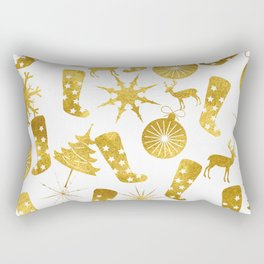 Gold Christmas 06 Rectangular Pillow