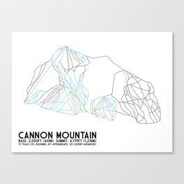 Cannon Mountain, NH - Minimalist Trail Art Canvas Print