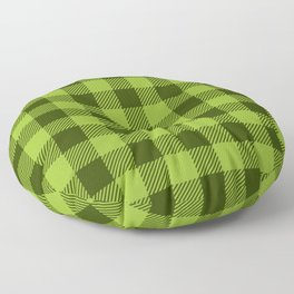 Buffalo Plaid: Green Floor Pillow