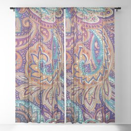 Summer paisley Sheer Curtain