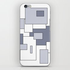 Squares - white and gray. iPhone & iPod Skin
