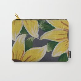 Handmade Sunflower Painting Carry-All Pouch