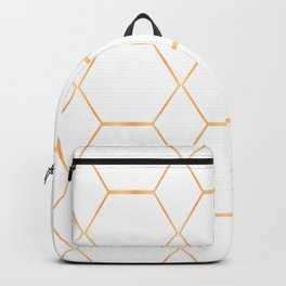 Golden Cubicles Pattern Backpack