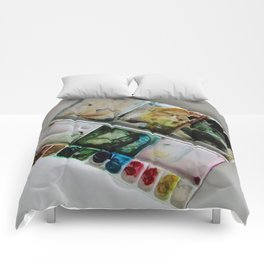Autumn in Maine Working Palette Comforters