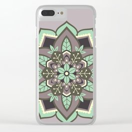 Elven Mandala Clear iPhone Case