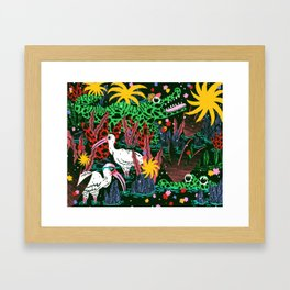 Get Out of My Swamp Framed Art Print