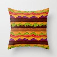 Infinite Burger Throw Pillow
