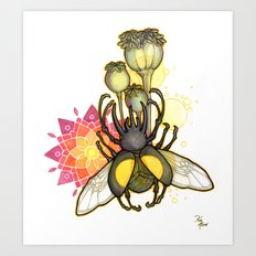 Rhino Beetle Art Print