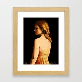 Ginger Study Framed Art Print