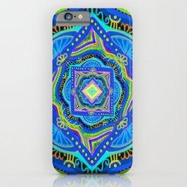 losange-geometry-baby art-bright colors-joy and energy-imagination-nursery art-hand painted iPhone Case